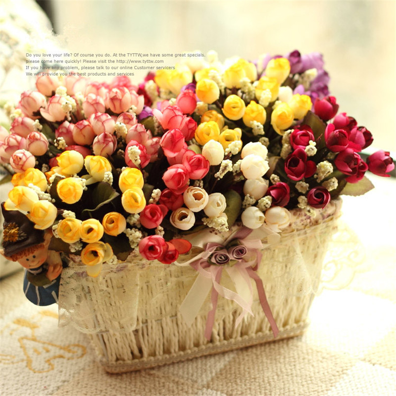 Autumn 15 Heads Silk Roses Bract Artificial Flower For Wedding And Christmas Decor 15