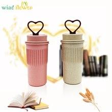 hot deal buy wind flower wheat straw plastic sports water bottle coffee ketle  home office drinkware tableware tools