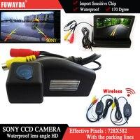 Wireless Color Car Chip Rear View Camera For Mazda 2 Mazda 3 4 3 Inch Foldable