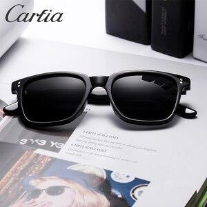 Image 2 - Carfia男性の偏光サングラス眼鏡ファッションレトロサングラススブランドデザイナードライビング 100% uv保護