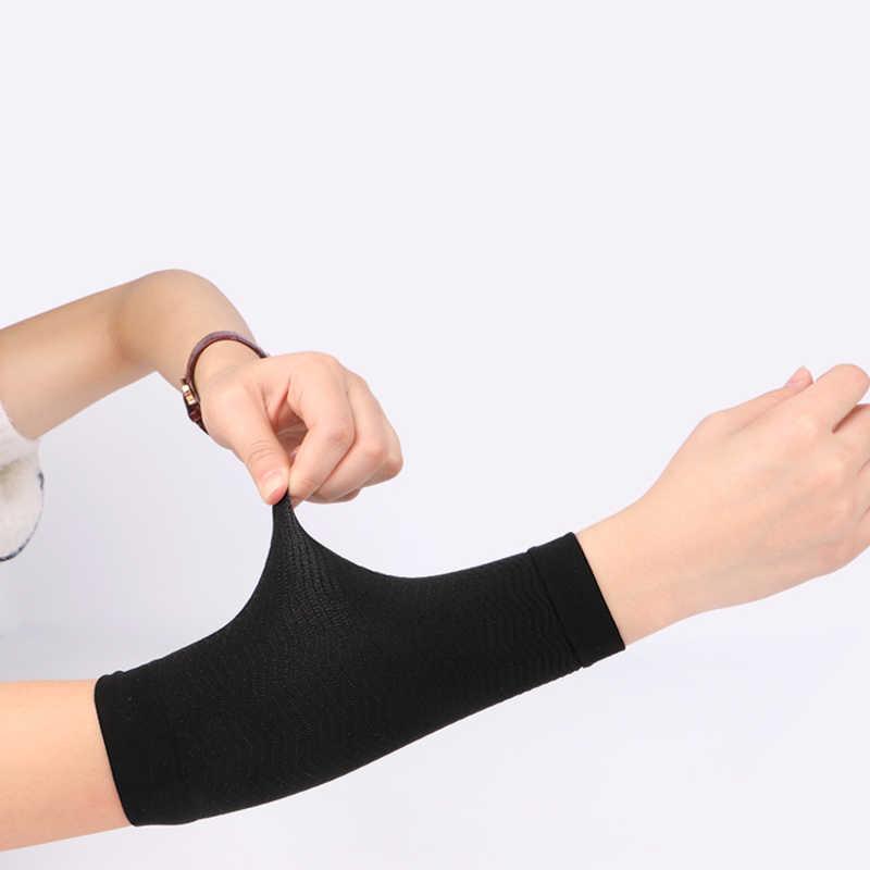 1 Pair Abnehmen Arm Wärmer Frauen Gewicht Verlust Kalorien Off Arm Former Massager Verlust Fett Buster Schwarz Nude Arm Ärmeln