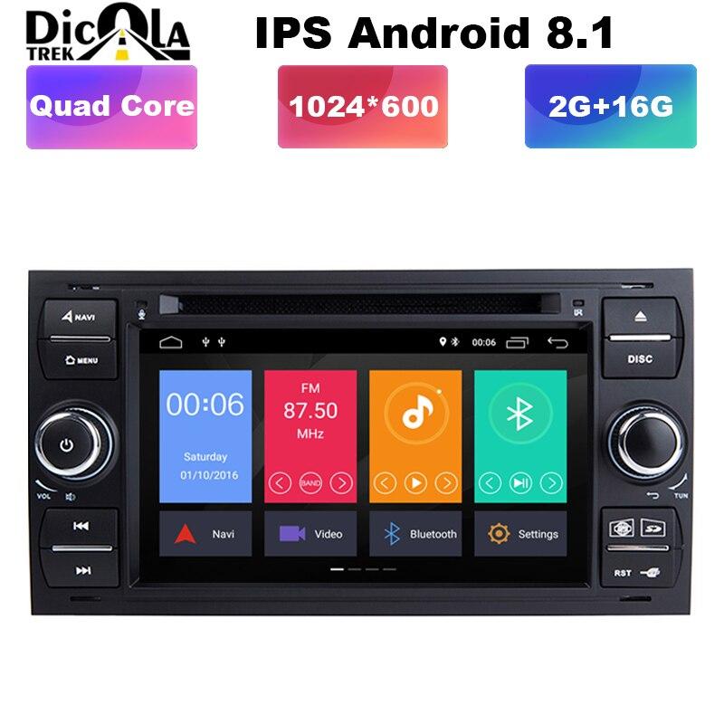 Android 8.1 DVD Do Carro Quad core para Ford Mondeo C-max foco galaxy S-max ranger fuja fusão expedição fiesta carro dvd som do carro