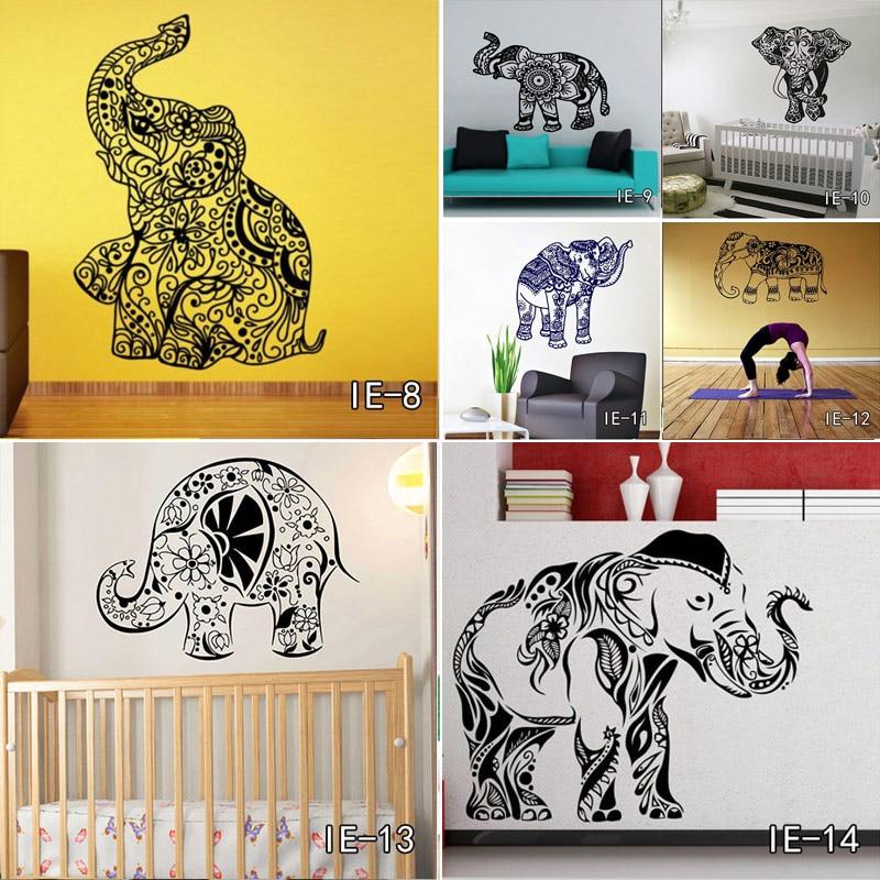 V-003 Indian Hinduism Wall Sticker Home Decor Vinyl Wall Decal Elephant Buddhism India Indian Buddha Om Yoga God Home Decor