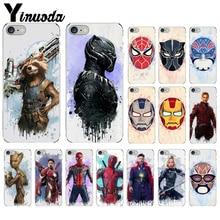 Yinuoda Marvel Avengers Superhero Batman Spiderman  DIY Protector Case for iPhone 7 7plus 6S 6plus 8 8Plus X Xs MAX 5 5S XR