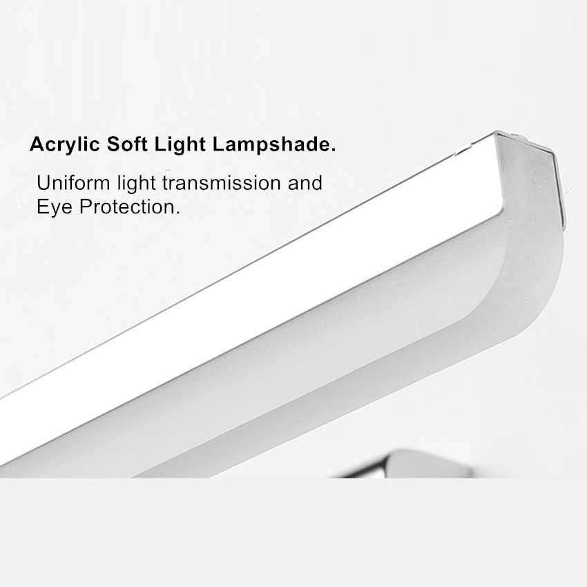 [DBF] Регулируемая длина 40 см 50 см 9 Вт 12 Вт светодиодный зеркальный светильник из нержавеющей стали AC85-265V современный настенный светильник для ванной комнаты настенные бра