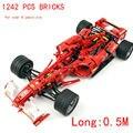 1242 ШТ. кирпича 1:8 может DIY с силовым приводом машина F1 на протяжении более 8 лет Блоки самоконтрящаяся кирпичи, Совместимые с Lego