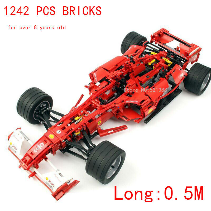 1242 PCS bricks 1:8 can DIY with power-driven machine F1 for over 8 years old Blocks self-locking bricks Compatible with Lego driven to distraction