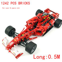 1242 PCS bricks 1:8 can DIY with power-driven machine  F1 for over 8 years old Blocks self-locking bricks Compatible with Lego