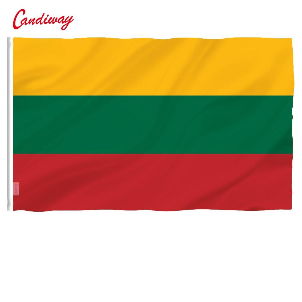 90x150 см, Литовский национальный флаг, подвесной Флаг, полиэстер, литовский флаг, большой флаг для улицы и помещений NN088