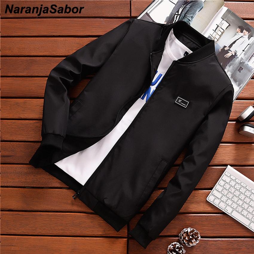 NaranjaSabor 2020 Men's Casual Jackets Spring Autumn Slim Fit Men Bomber Jacket Male Pilot Flight Coats Mens Brand Clothing N445