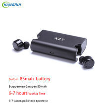 HANGRUI X2T Mini bluetooth font b earphone b font In ear Wireless Earbud headset mini Ture