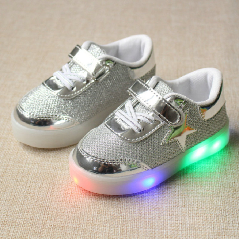 3ba69b3d3d23 2018 New Stars Boys Girls Led Light Up Luminous Shoes Brand Children Shoes  For Kids Sneakers Flats Sports Shoe Size 21 30-in Sneakers from Mother & Kids  on ...