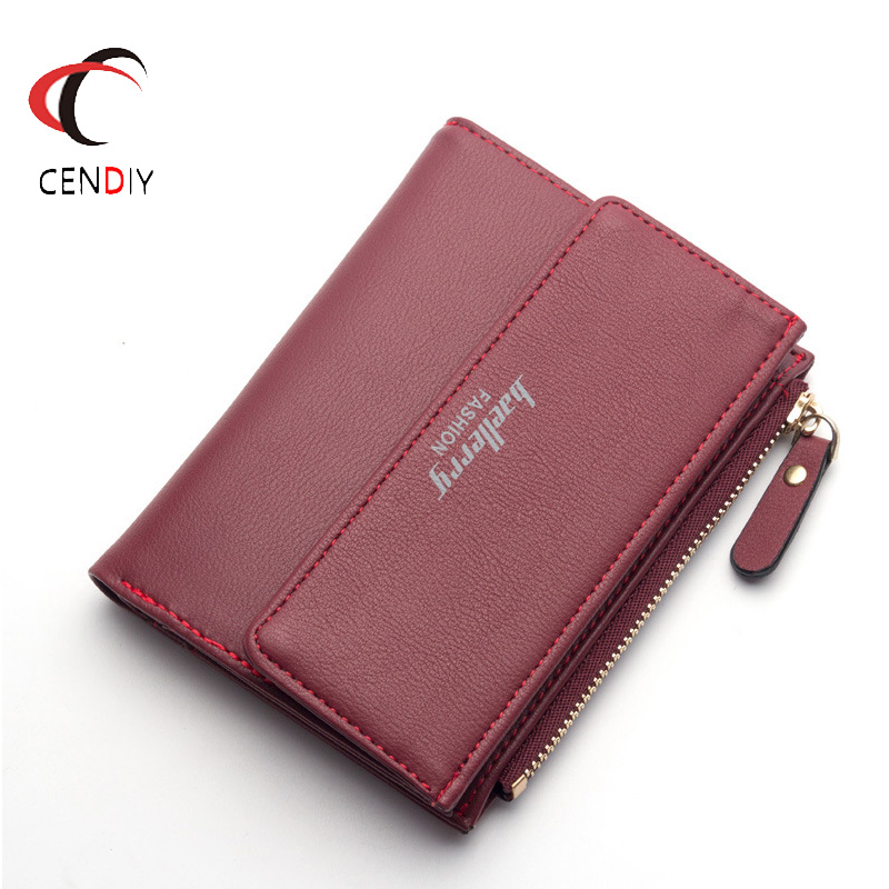 Hot Fashion Women's Purse Thin Zipper Women's Wallet Ladies PU Leather Purse Female Small Mini Card Case Cheap Womens Wallets new small designer slim women wallet thin zipper ladies pu leather coin purses female purse mini clutch cheap womens wallets