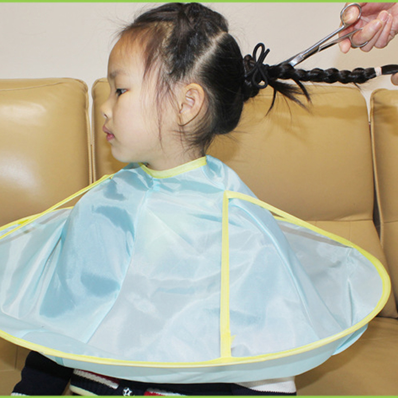 1Pc Kids Barber Aprons Salon Polyester Waterproof Hairdresser Children Infant Baby Hair Cutting Cape Flower Gown Barber Aprons