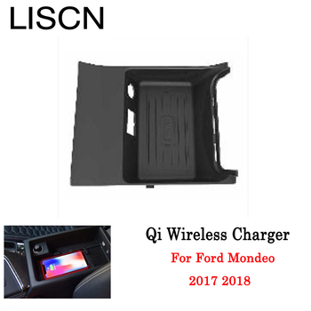 Qi Wireless Charger For Ford For Mondeo 2017 2018 Phone Holder Wireless Charging Original Car Glove Box Smart wireless charger