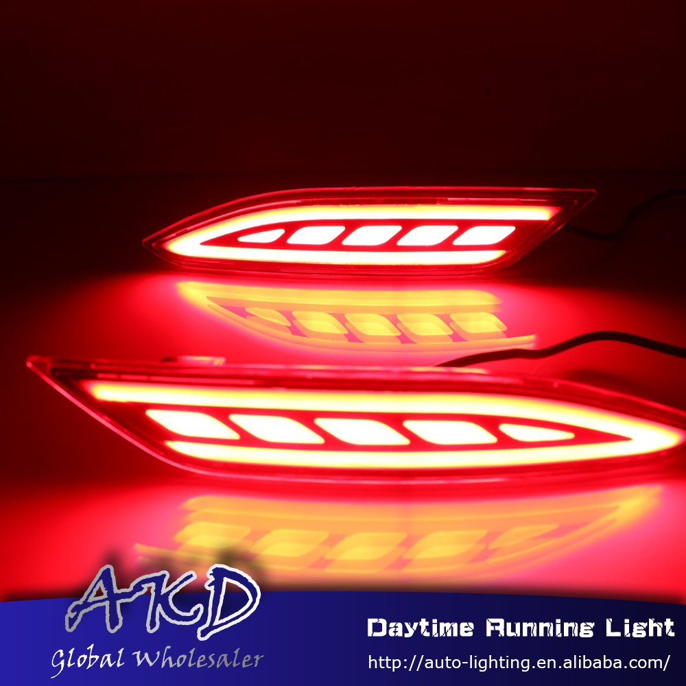 Reflector Rear-Bumper-Light Brake-Lamp HR-V Honda for Vezel DRL Car-Styling