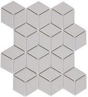 3D Grey diamond tiles, grey cube mosaic tiles, wall tiles,3D4809