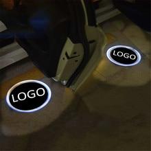 JingXiangFeng шт. 2 шт. чехол для mustang hyundai логотип автомобиля интерьер огни Добро пожаловать Дверь Призрак Тень лампы мотоциклов 12 В Предупреждение