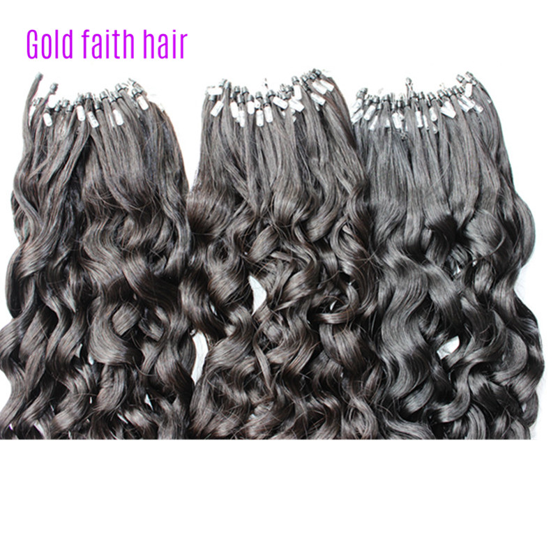 Micro ringbead loop hair extensions curly brazilian human virgin micro ringbead loop hair extensions curly brazilian human virgin hair easy use care high quality remy extension gold faith hair in micro loop ring hair pmusecretfo Image collections