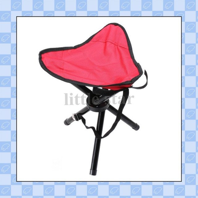 Outdoor Camping Hiking Fishing Picnic Garden BBQ Stool Tripod Three feet Folding Chair Seat,freeshipping,dropshipping