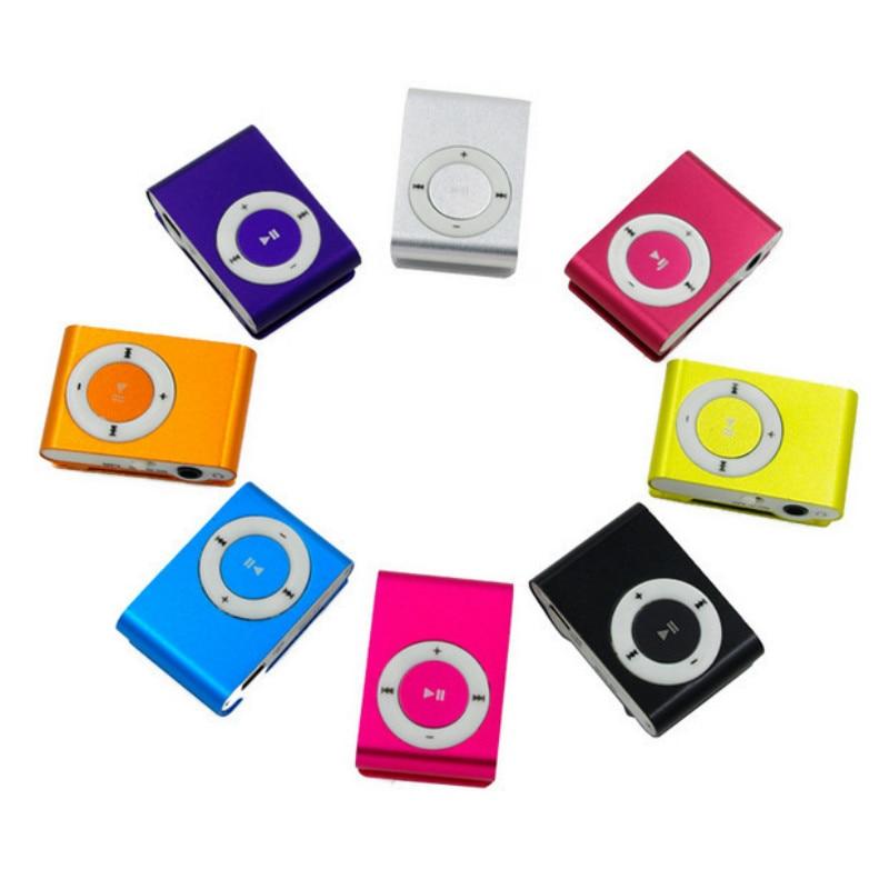 NYHET Bärbar Metal Clip MP3-spelare med 5 Candy Colors No Memory Card Musikspelare med TF Slot