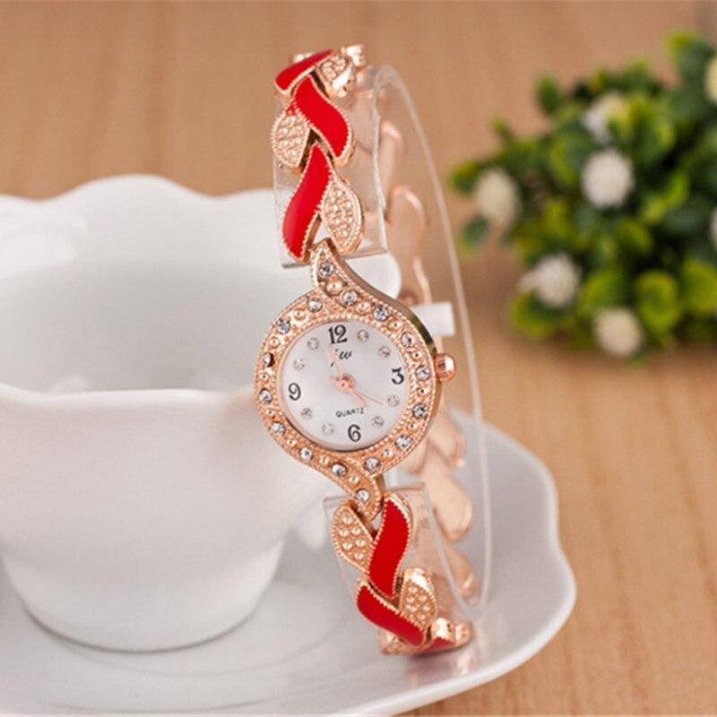 2019 nowy marka JW bransoletki z zegarkiem kobiety luksusowy kryształ sukienka zegarki na rękę zegar moda damska zegarek kwarcowy na co dzień reloj mujer 5