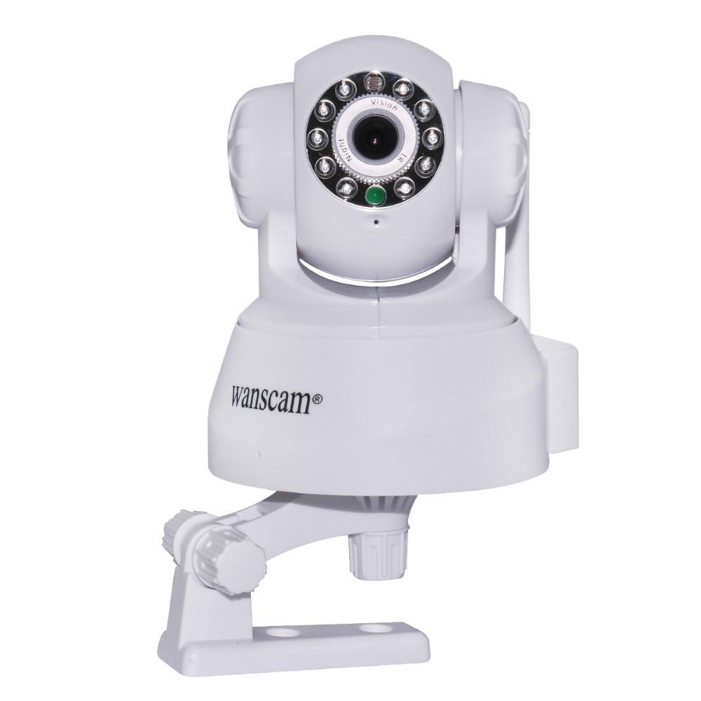ФОТО Wanscam P2P Wireless WiFi IP Camera CCTV Security Monitoring IR Pan/Tilt with TF SD Card Slot White Free Shipping