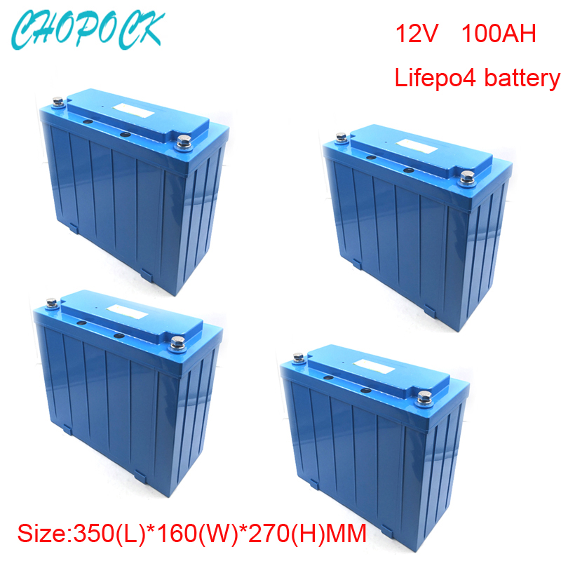 No taxes 4pcs/lot Rechargeable Lifepo4 12v 100ah Lithium ion battery for Ev and Solar street light ,Electric bike ,golf car 5pcs electric bicycle battery 12v rechargeable customized 12v 60ah lithium battery pack for ups led light solar street light