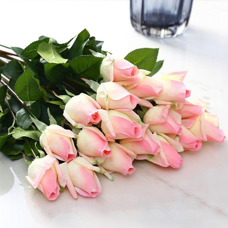 10st / set Rose Konstgjorda blommor bröllop Blommor Bridal Bouquet - Semester och fester - Foto 4