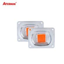 Lampe horticole horticole de croissance avec réflecteur objectif, 20/30/50W, LED/110V, éclairage à spectre complet pour lampoule horticole 220