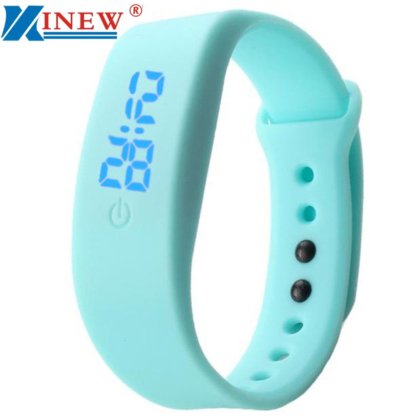 Digital Watches Womens Mens Rubber LED Watch Date Sports Bracelet Digital Wrist Quartz Watch Alarm Clock  #0110