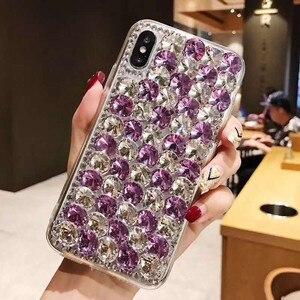 Image 3 - Etui na telefon xiaomi 10 9 MAX3 5X 6X Redmi 5 6 7 4A 6A 8A uwaga 4X 5A 7 6 8T 8 Pro luksusowe dżetów błyszczący pokrowiec pokrywa kryształ