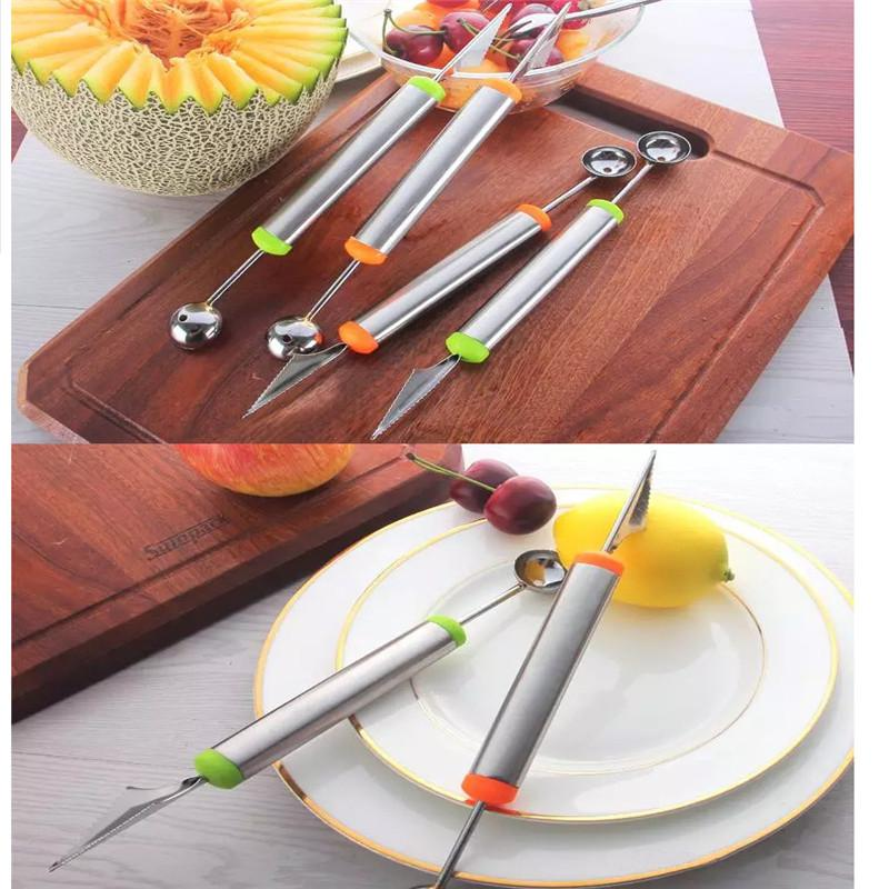 Multifunctional fruit vegetable tools carving cutter melon scoops ballers stainl