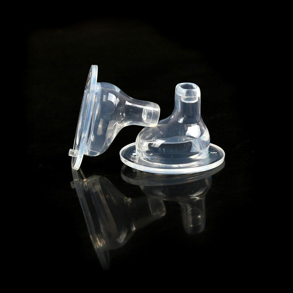 2pc segurança de alta qualidade material seguro ferramentas alimentação do bebê silicone duckbill chupeta grande calibre mamilo