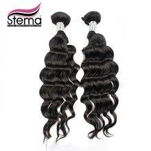 Free Shipping Stema Hair Extensions Brazilian Loose Body Wave Human Hair Bundles 2pcs/lot Brazilian Hair Weaving  No Tangle