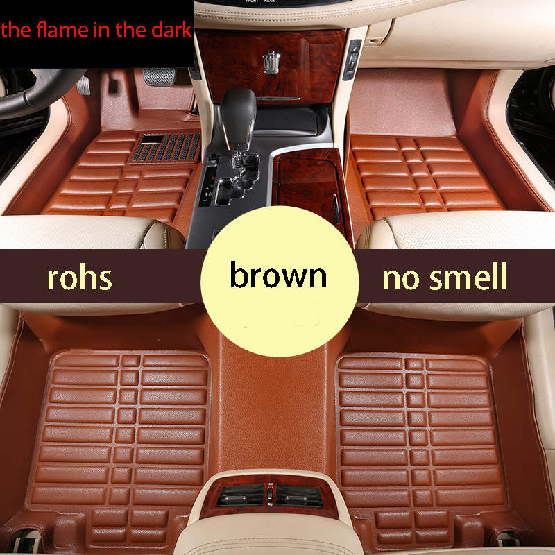 free shipping leather car floor mat carpet rug for honda odyssey 3rd generation 2003 2004 2005 2006 2007 2008 3 rows mat