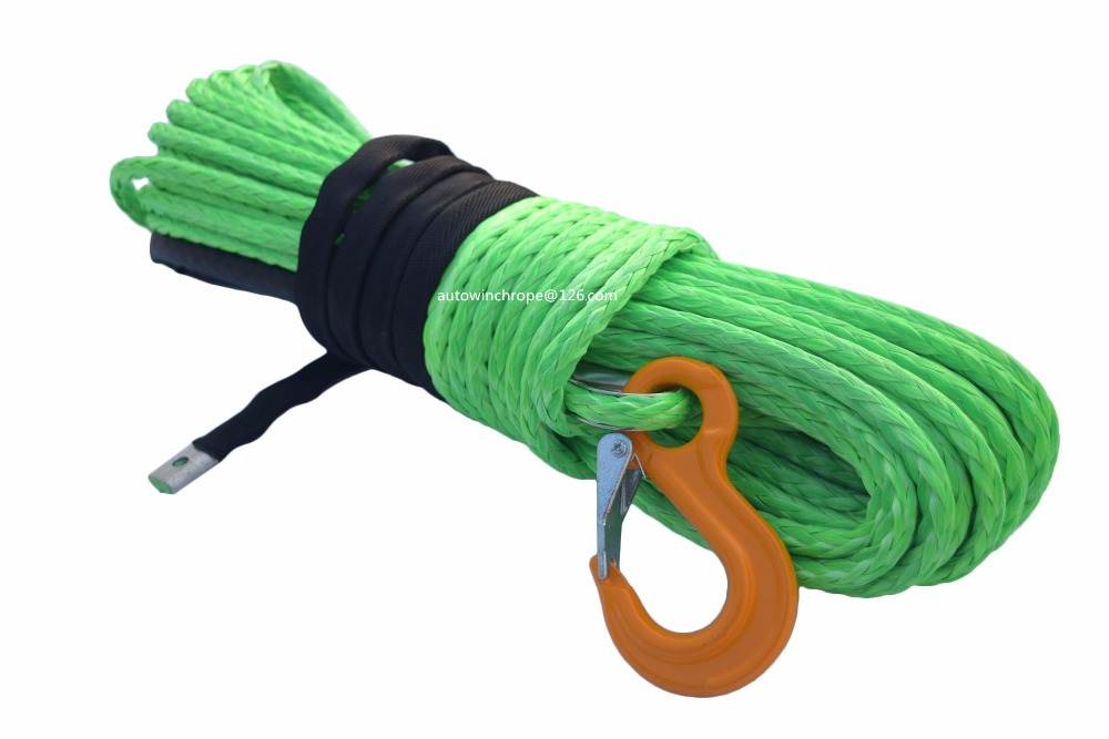 Free Shipping Green 12mm*30m Boat Winch Cable,Spectra Winch Cable,Winch Rope Extension,Tow Rope Car