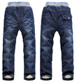 New Arrival handsome 2Y-7Y Boys Thick Winter Warm Pants Children Fashion Trousers Infants Jeans In Stock Retail upset boys jeans