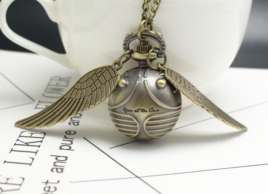 Кварцевые карманные часы harri poter Golden Snitch Slytherin, свитер с крыльями ангела, медный золотой шар, ожерелье с подвеской