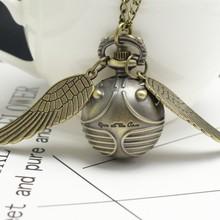harri Potter Golden Snitch Slytherin Quartz Pocket Watch Ang