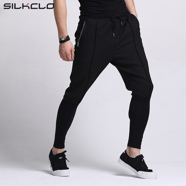 65% cotton Men Pants Unique Zipper Pocket Hip Hop Harem Pants High Quality Summer Style   Clothing Men Joggers