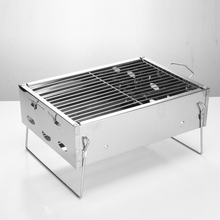 BBQ Grill Bakery Outdoor 2 People Charcoal Tool Carbon Barbecue Stove Foldable tool 36*26.5*17.5cm square barbecue rack