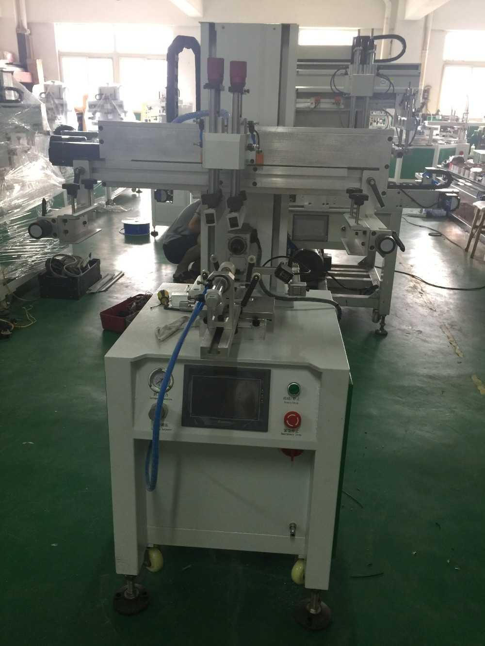 2 Colors Label Bottle Screen Printing Machine