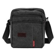 BEAU Мужская винтажная парусиновая Повседневная сумка-мессенджер