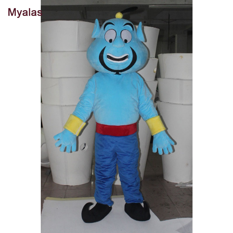 Aladdin Genie Mascot Costume For Men For Adults Aladdin Monster And Halloween Costume Customize For 1.6m To 1.85m Mascot Costume