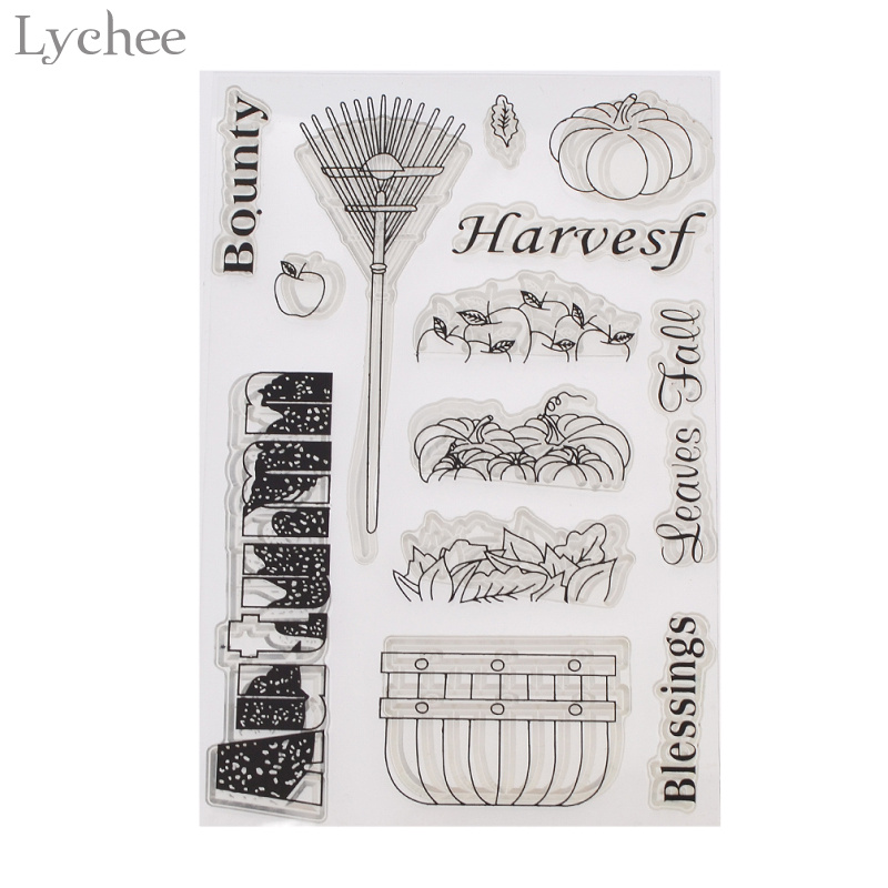 Lychee Autumn Harvest Transparent Clear Silicone Stamp Seal for DIY Scrapbooking Photo Album Decorative Clear Stamp harvest hunting