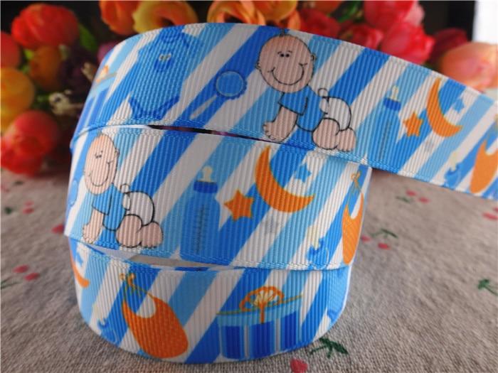 new arrival 22mm 10 yards baby shower printed grosgrain