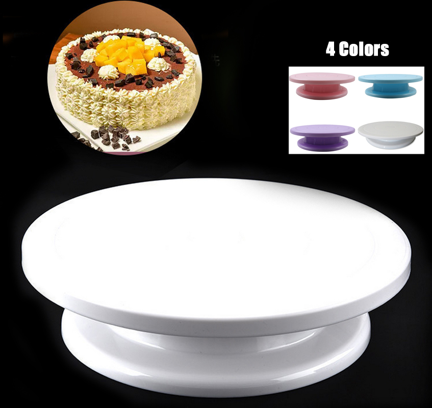 "4 Colors 11"" Rotating Revolving Plate Decorating Cake ..."