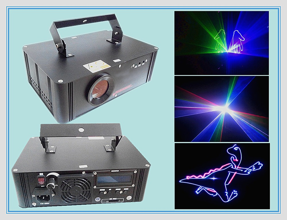 Rasha Hot Sale 750mw RGB Full Color SD Card Animation Laser Light Disco Laser Show System