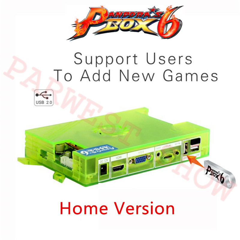 Pandora Box 6 1300 in 1 Motherboard Family Version HDMI VGA Output Game Board For Arcade